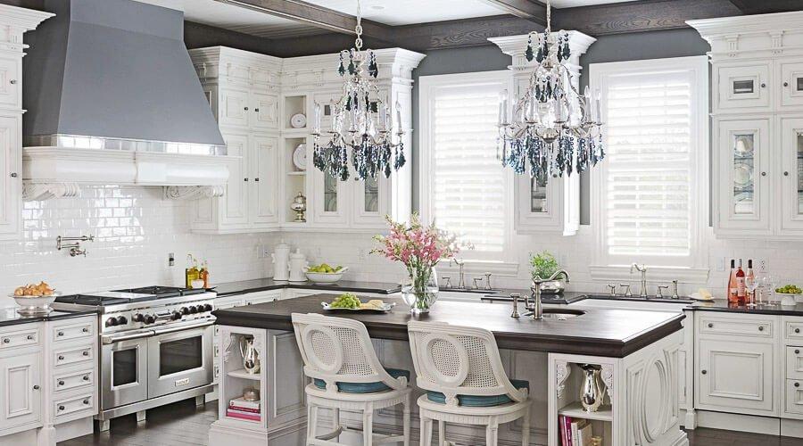 15 serene white kitchen interior design ideas for Luxury white kitchen design