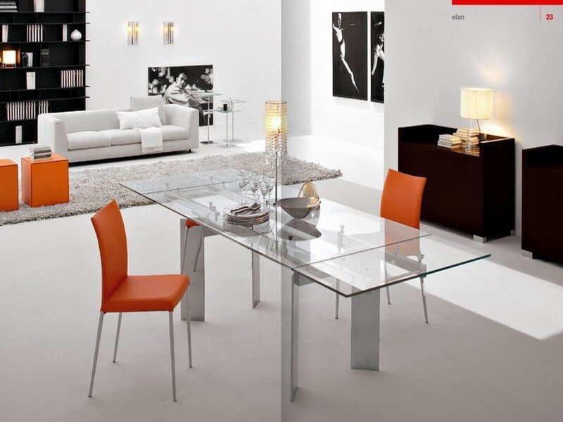 10 charming orange interior design ideas for Orange dining room design ideas