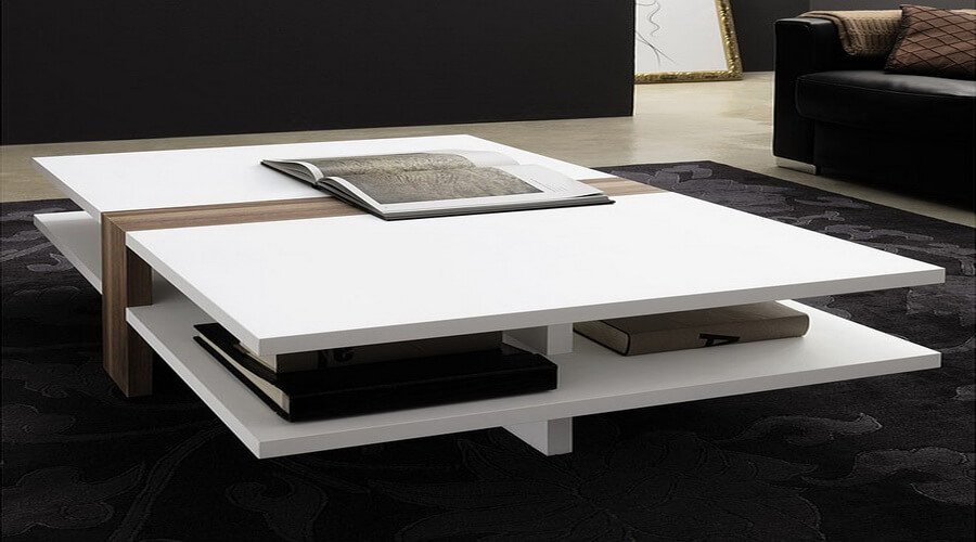 10 contemporary coffee table design ideas for living room for Living room ideas without coffee table
