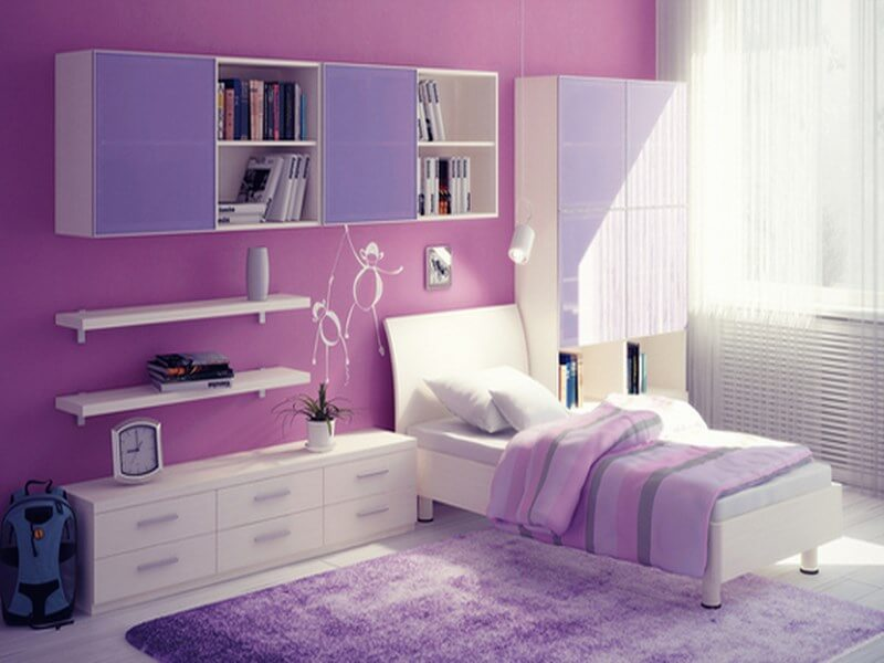 10 lovely violet girl 39 s bedroom interior design ideas - Pics of bed rooms for teenage girls ...