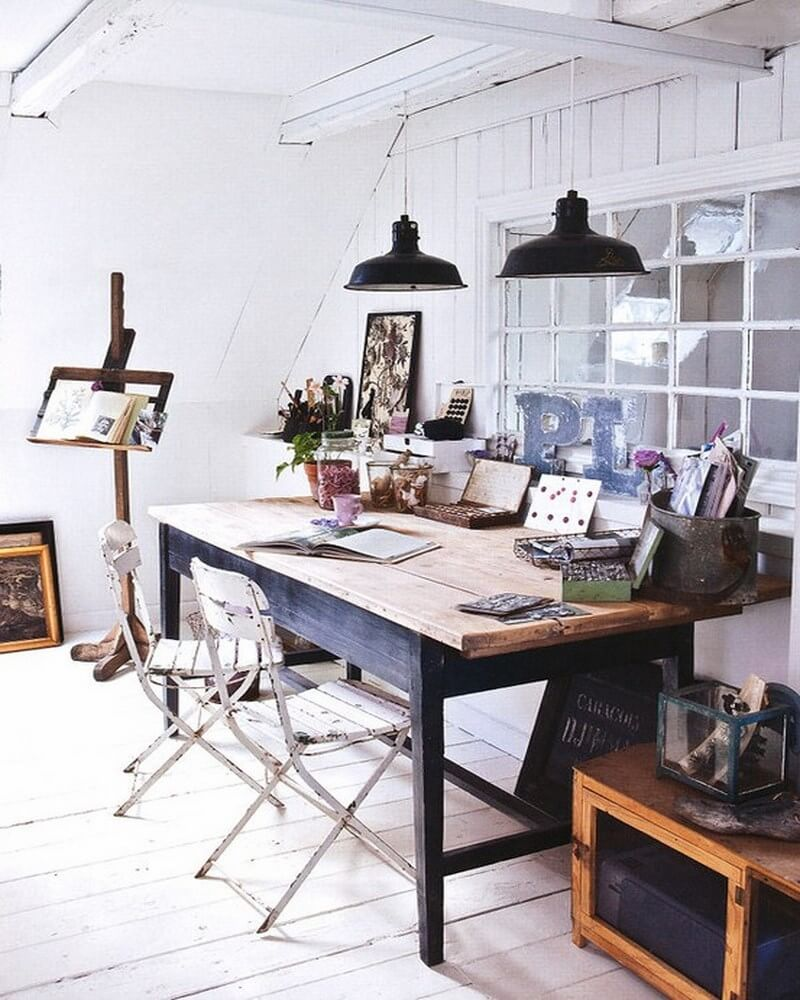 22 Scandinavian Home Office Designs Decorating Ideas: 10 Cool Attic Home Office Interior Design Ideas