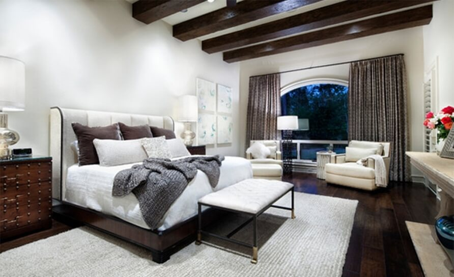 10 bedroom interior with roof beam design ideas for Roof designs interior
