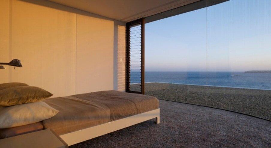 Minimalist Bedroom With Ocean View
