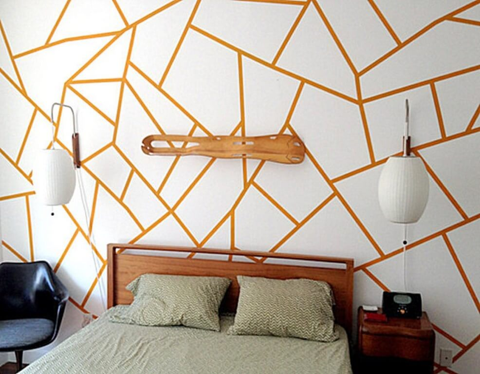 Geometric wallpaper in 10 bold bedroom ideas - Decoraciones para la pared ...