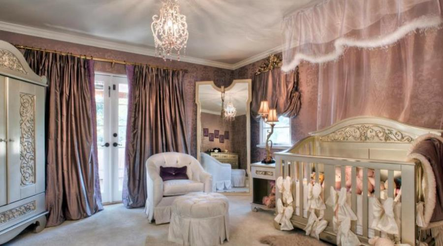 Luxury Princess Inspired Girls Bedroom