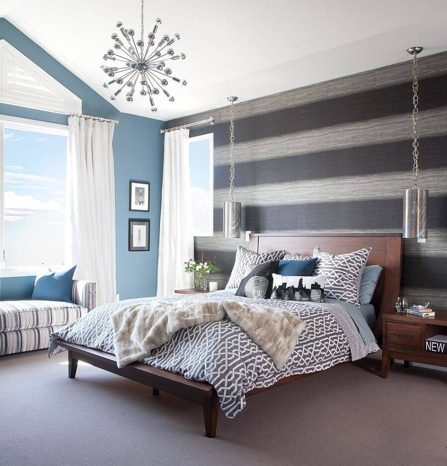 9 Bedroom Design Ideas With Striped Walls