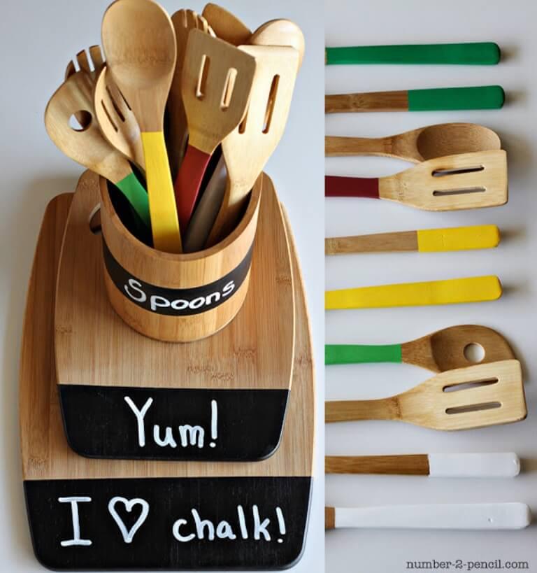 Utensil Organizer Caddy Wooden-utensil-caddy-with