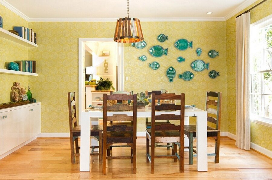 10 yellow and blue interior design ideas for your home - Yellow and blue dining room ...