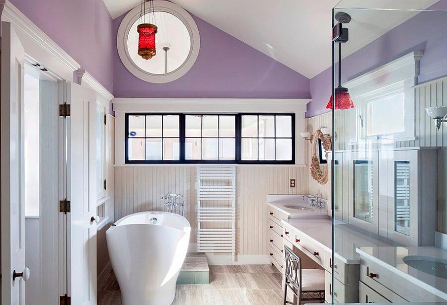 10 charming purple bathroom design ideas for Purple and yellow bathroom ideas