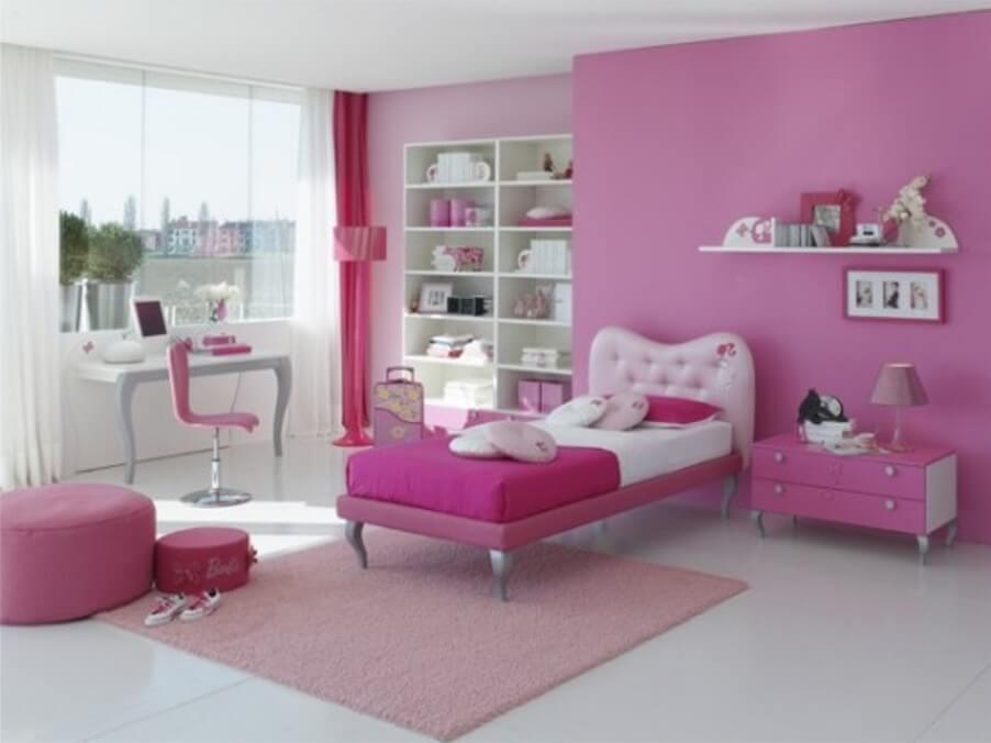 Beautiful Pink Girl's Bedroom