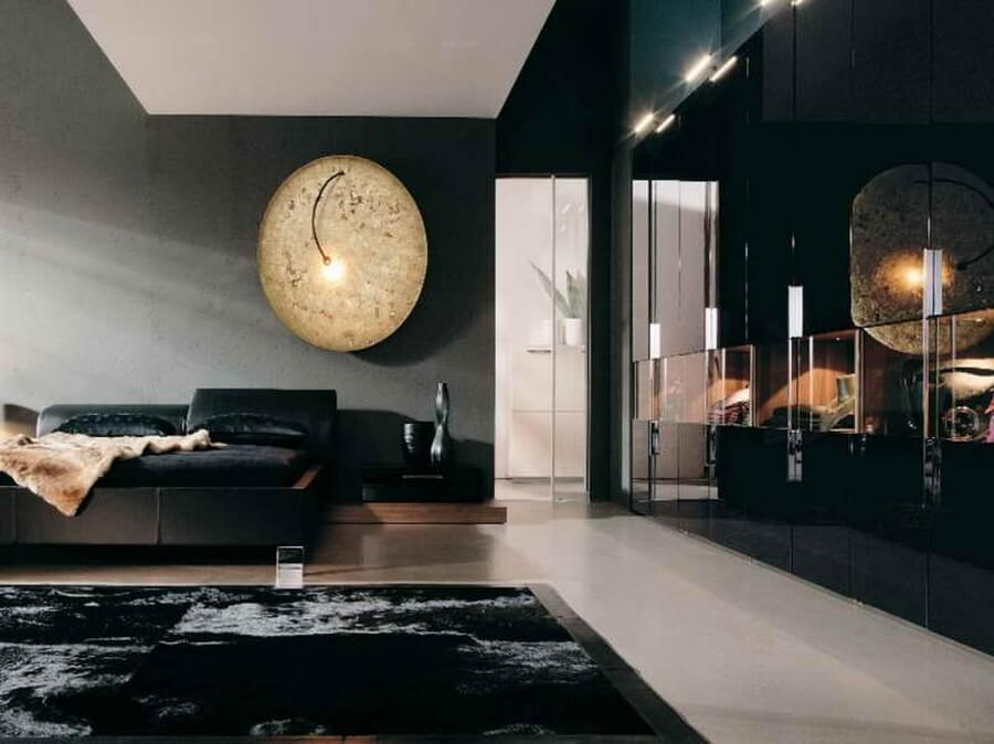 Black-Bedroom-Decorating-Ideas-with-moon-beam