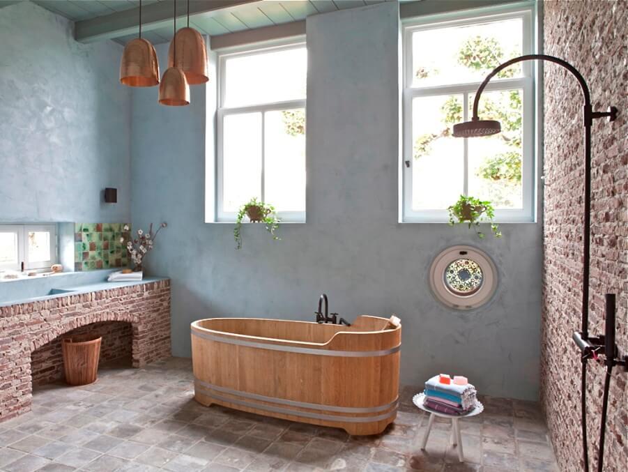 Bohemian Vintage Bathroom