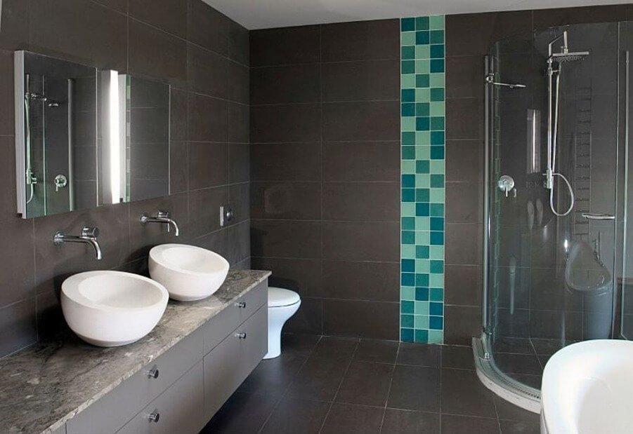 Contemporary Gray Bathroom