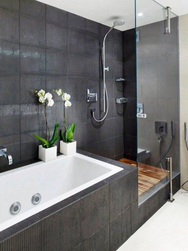 Contemporary Monochrome Bathroom
