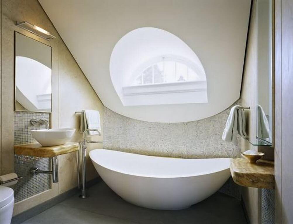 Cool Attic Bathroom