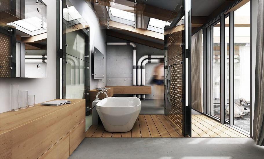Cool Industrial Bathroom