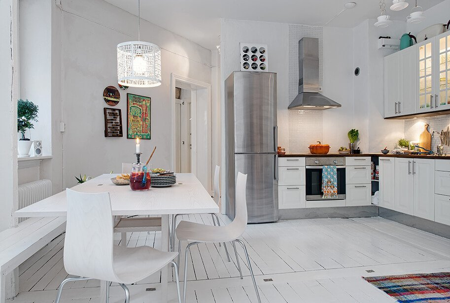 Cool White Kitchen