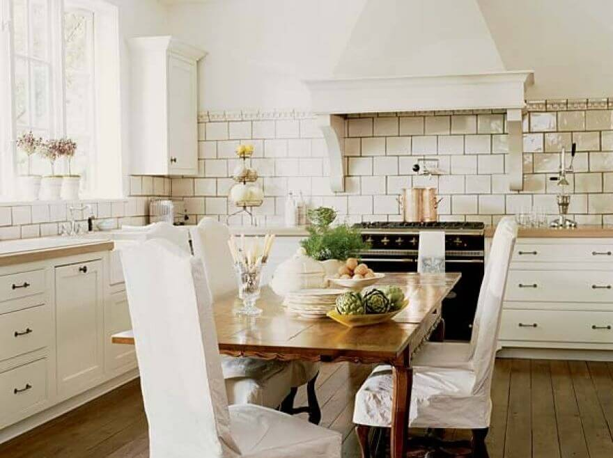 Cozy White Kitchen