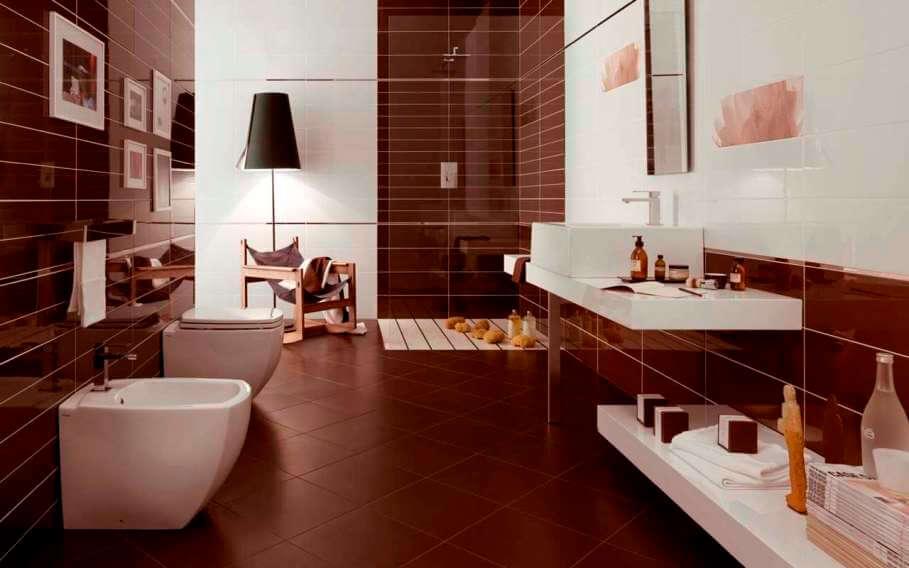 Earthy Brown Bathroom