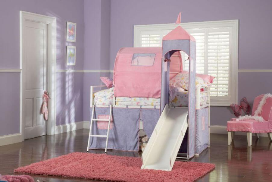 Fun Purple Girl's Bedroom
