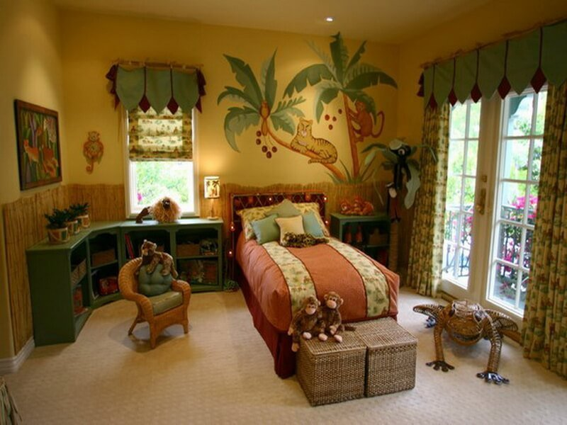 10 interesting boys 39 themed bedroom interior design ideas for Jungle living room ideas