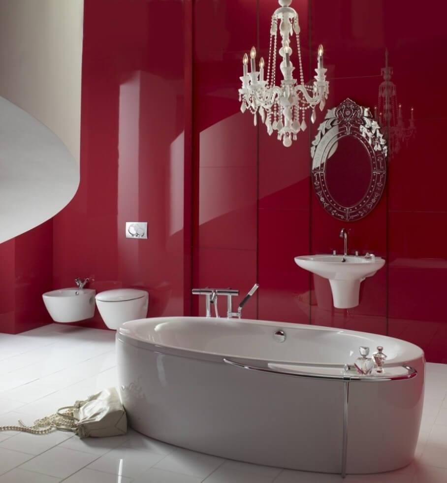 10 inspiring paint color design ideas for bathroom for Hot pink bathroom ideas