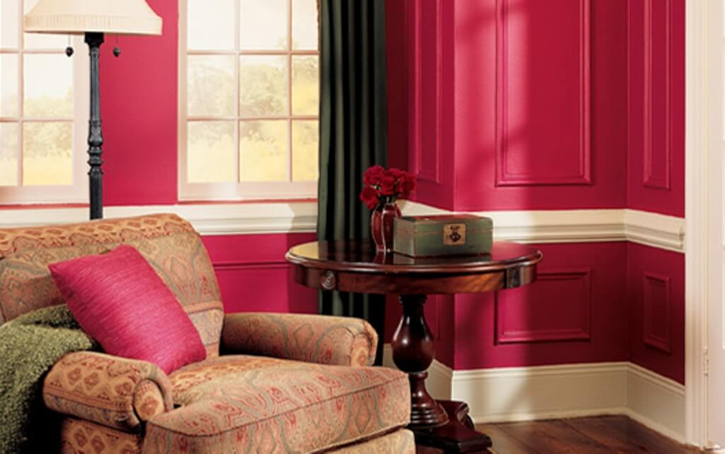 15 paint color design ideas that will liven up your living for Hot pink living room ideas