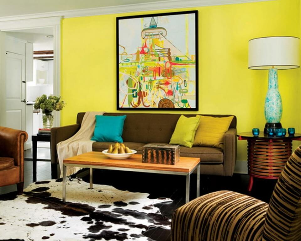 15 paint color design ideas that will liven up your living for Living room yellow color