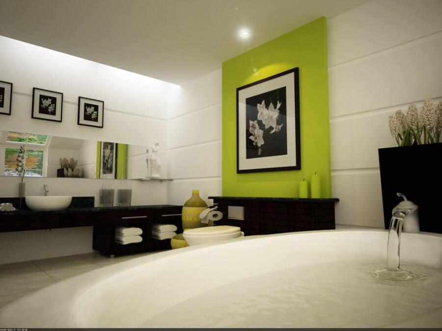 Modern Artsy Bathroom