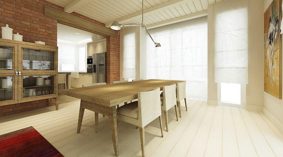 Modern Natural Dining Room