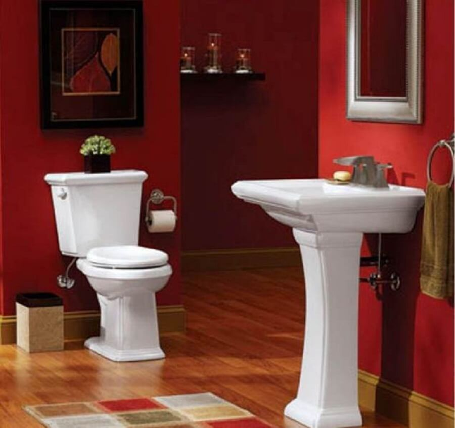 Ravishing Red Bathroom