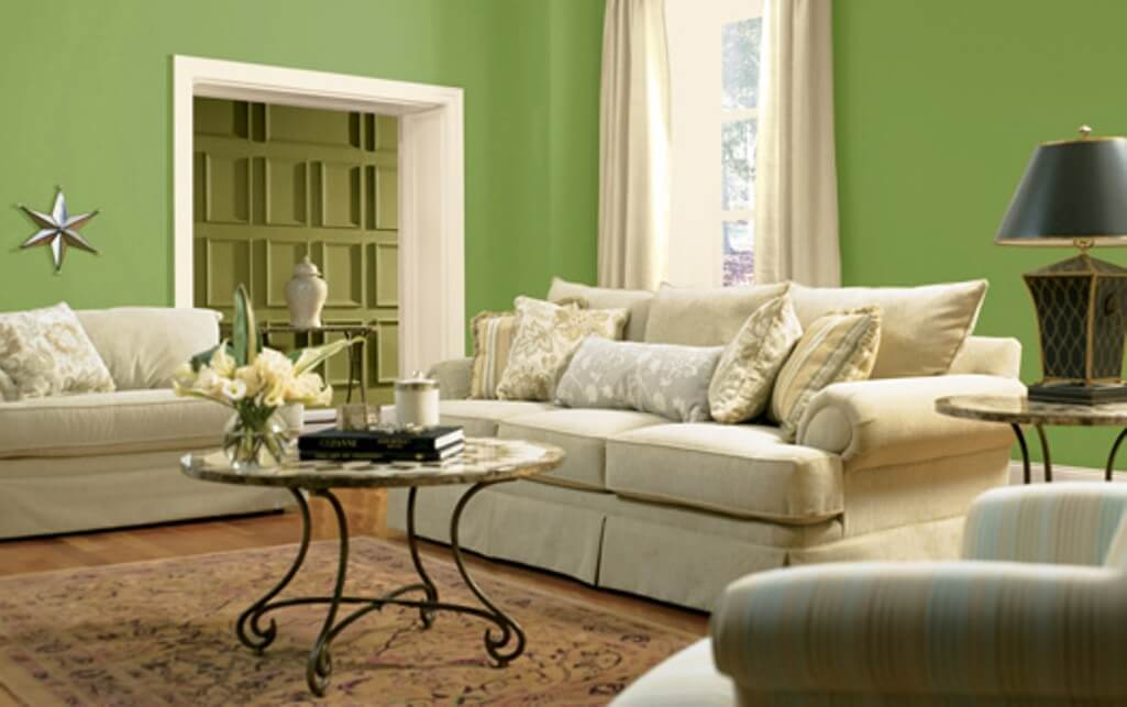 15 paint color design ideas that will liven up your living room interior - Green paint colors for living room ...