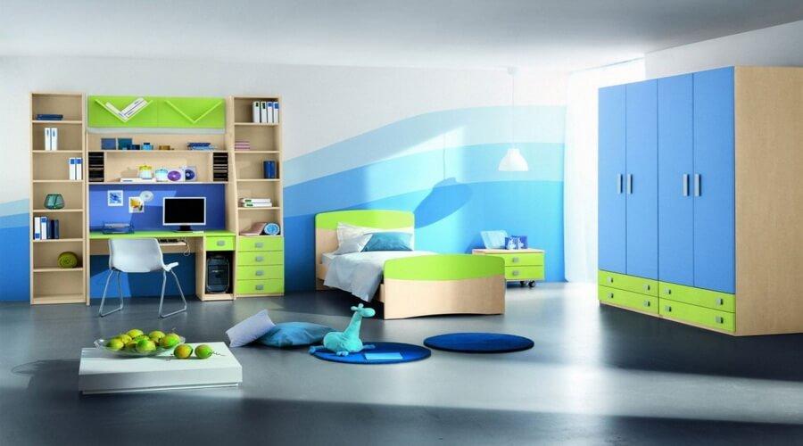 Gradation In Interior Design 10 interesting boys' themed bedroom interior design ideas - https