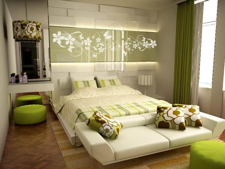 wonderful-green-bedroom-decoration