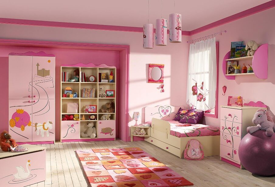 Awesome Pink Bedroom