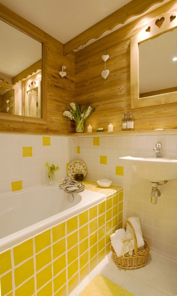 10 bright yellow bathroom interior design ideas. Black Bedroom Furniture Sets. Home Design Ideas