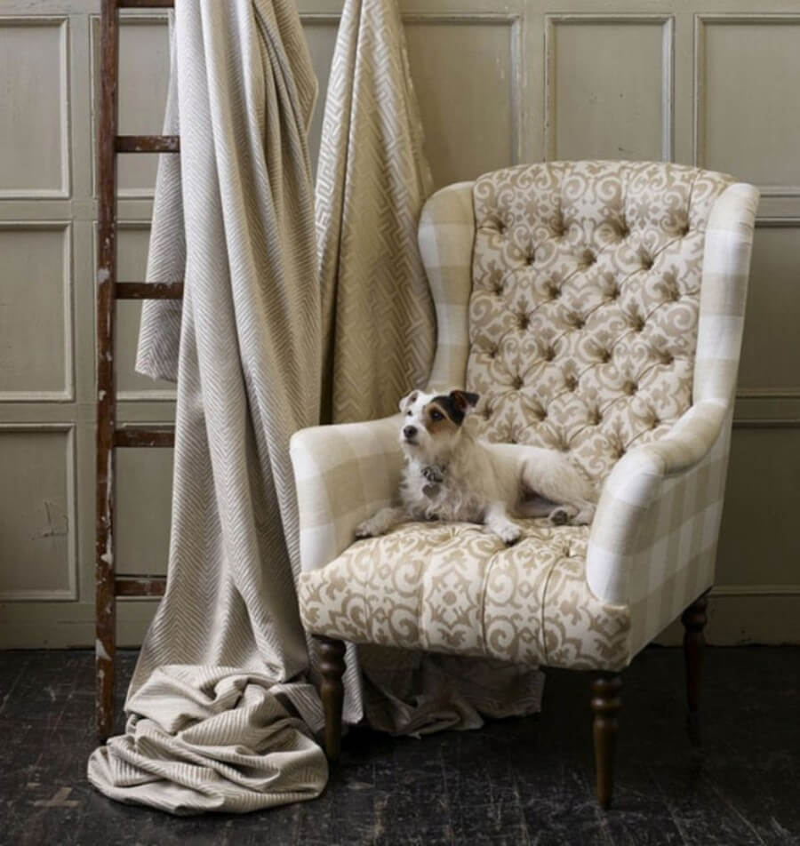 Classy Buttoned Wingback Chair