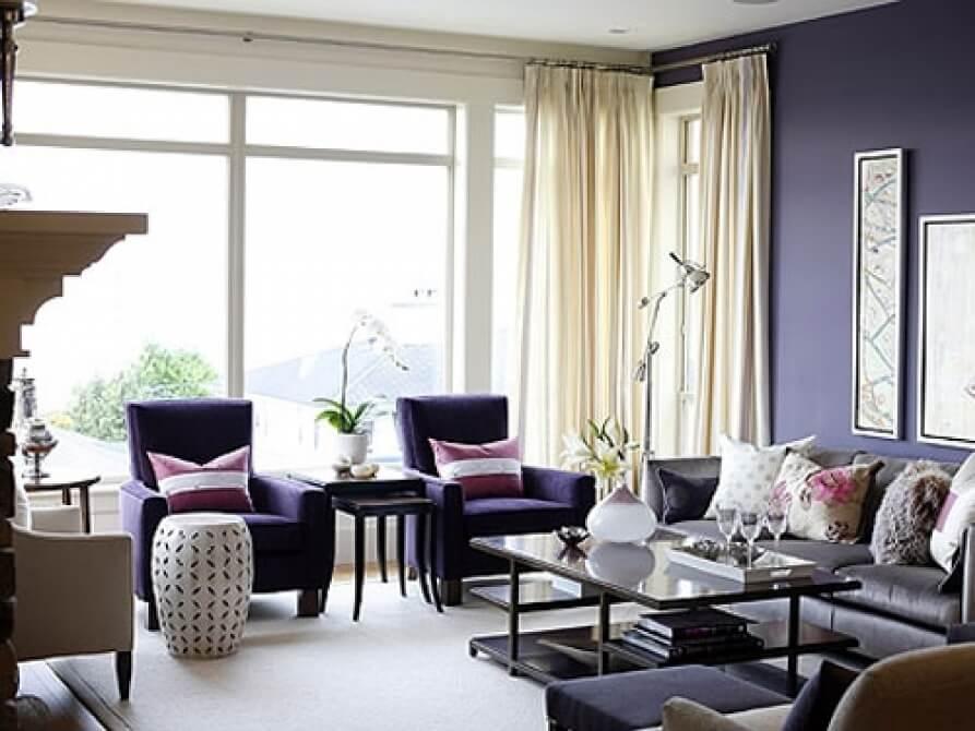 Classy Purple Living Room