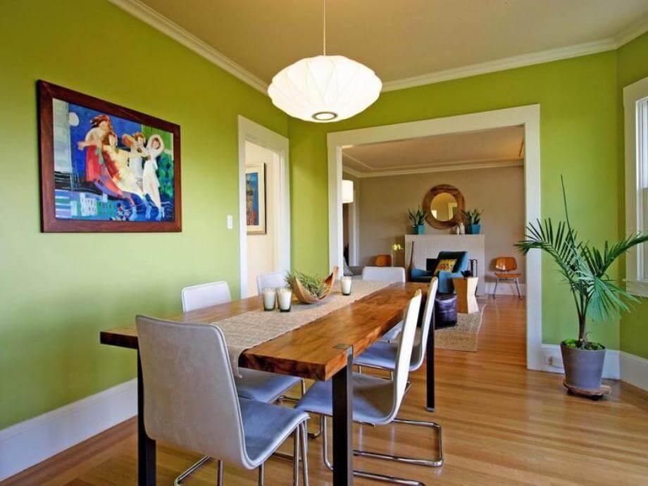 10 fresh green dining room interior design ideas https for Lime green dining room ideas