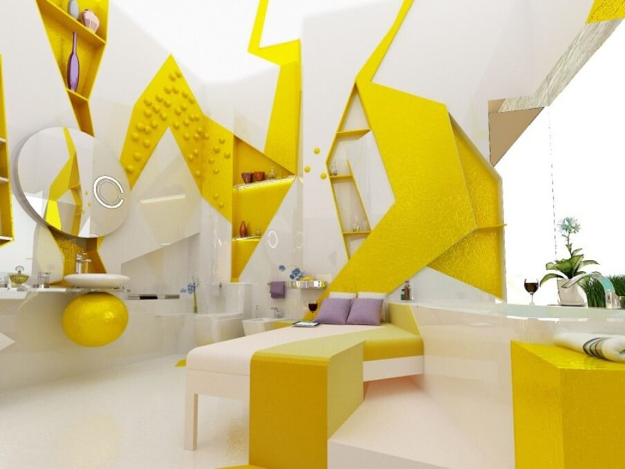 Cool Yellow Bathroom