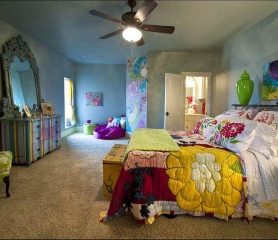 Dramatic Bohemian Bedroom