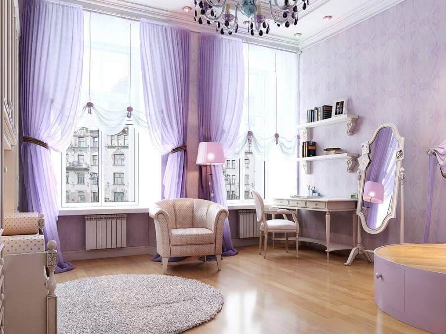 10 Chic Purple Living Room Interior Design Ideas ...