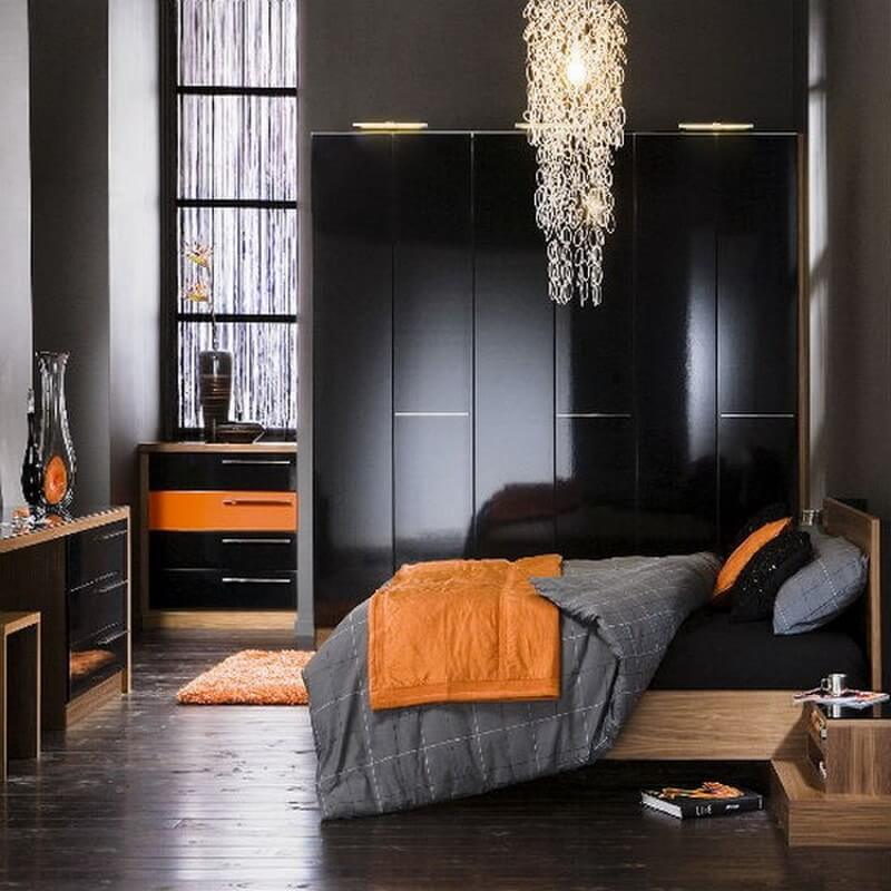 10 charming orange interior design ideas https for Bedroom ideas dark grey