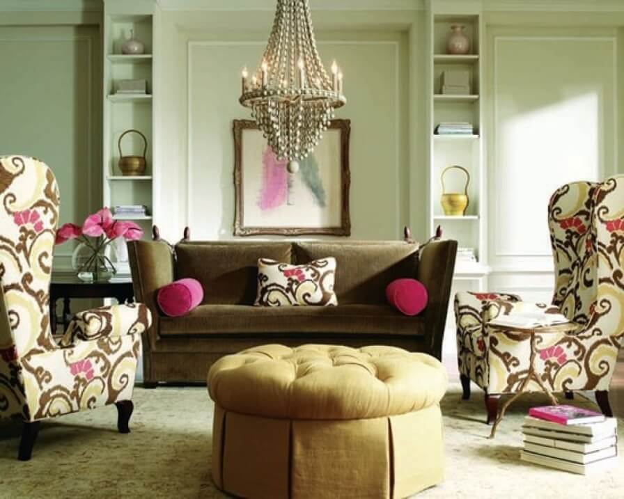 Fancy Eclectic Living Room