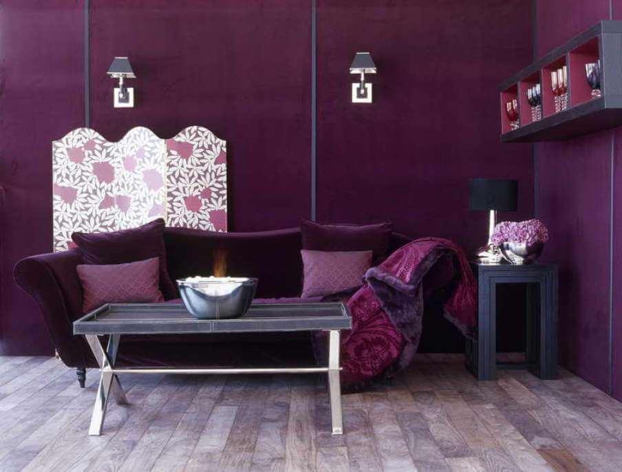 Hot Purple Living Room