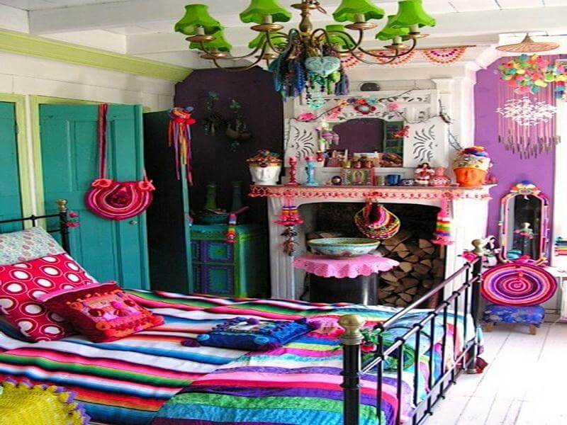 Lively Bohemian Bedroom