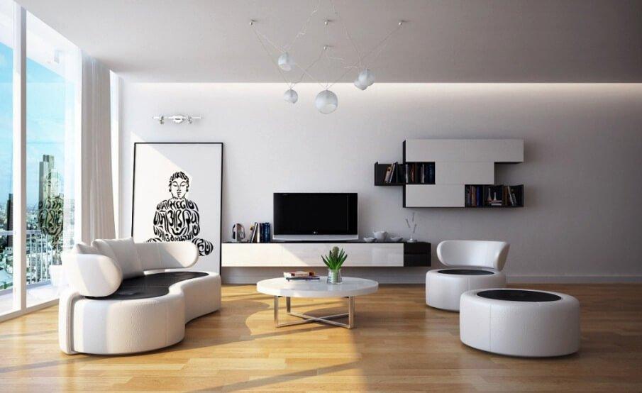 Minimalist Contemporary Living Room