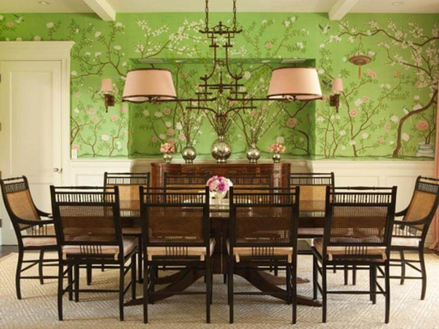 10 fresh green dining room interior design ideas https for Light green dining room