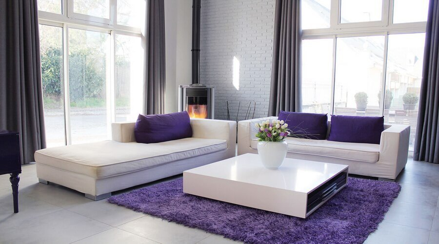10 chic purple living room interior design ideas https for Purple living room designs