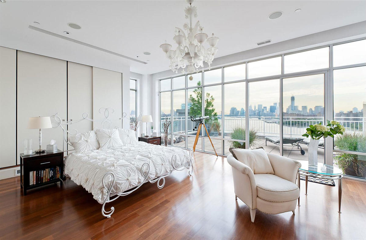 Splendid Bedroom with Glass Walls
